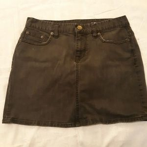 JCrew black wash jean skirt